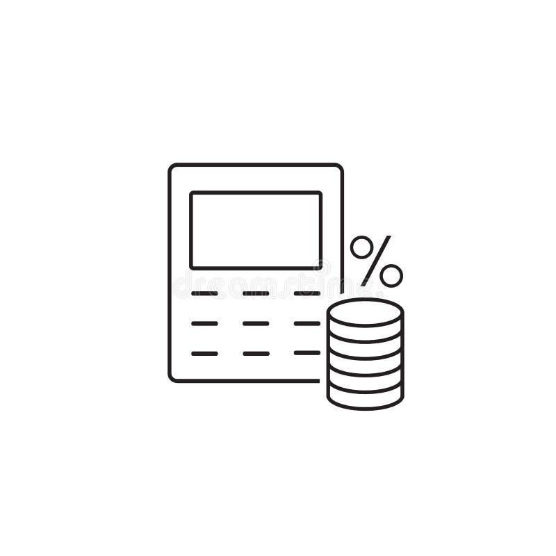 Geldberechnungslinie Ikone stock abbildung