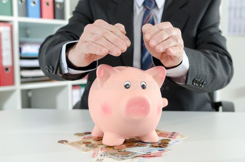 Geldbescherming royalty-vrije stock afbeeldingen