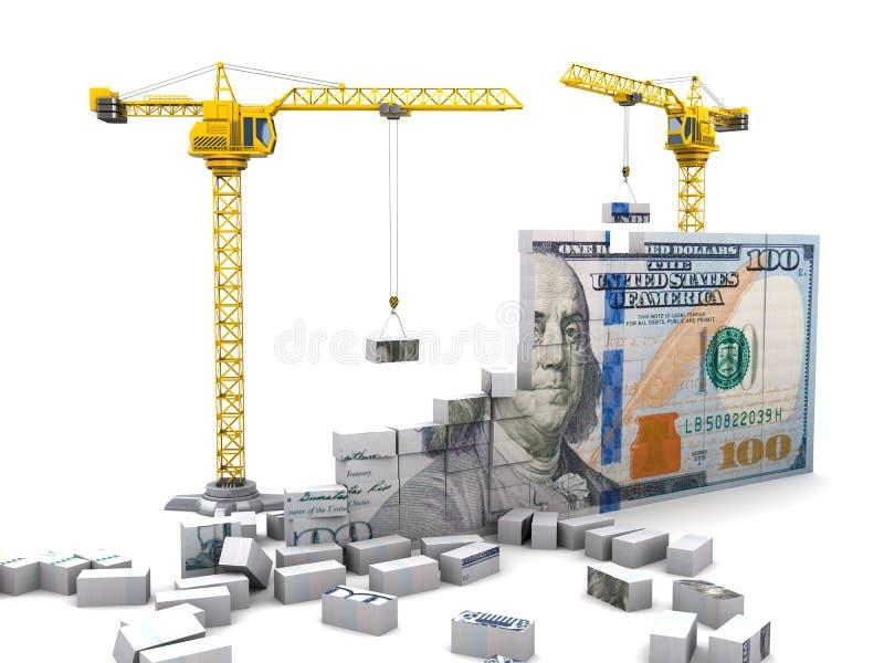 Geldbouw vector illustratie