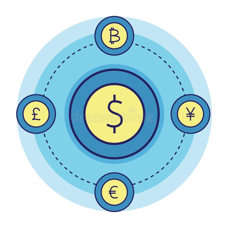 Geldconvertor vector illustratie