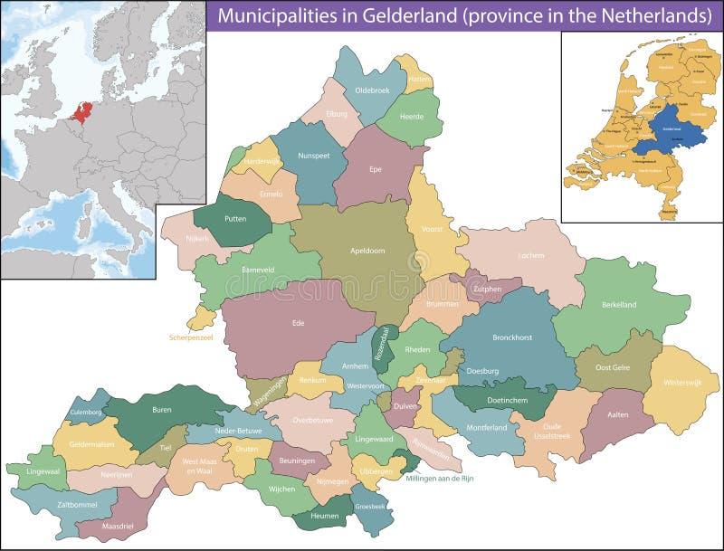Gelderland jest prowincją holandie royalty ilustracja