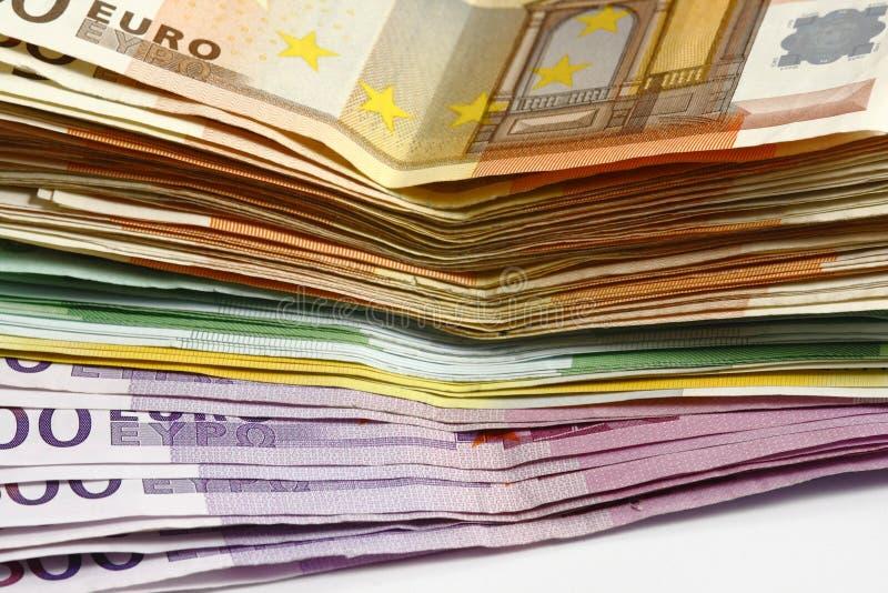 Geldeuro lizenzfreies stockfoto
