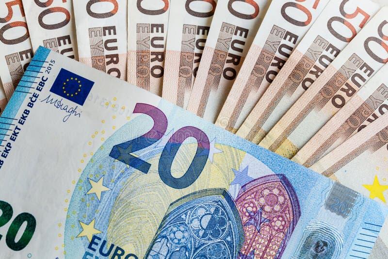 Geldeurobanknoten stockbilder