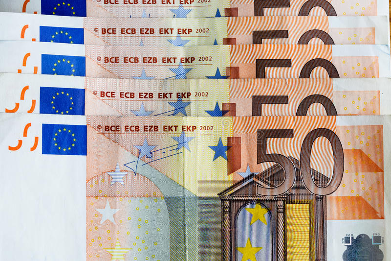 Geldeurobanknoten lizenzfreie stockfotos