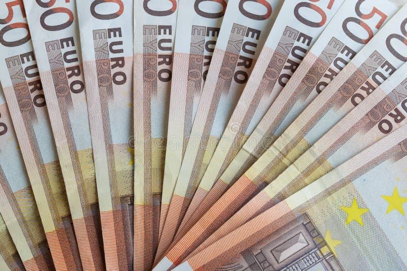 Geldeurobanknoten lizenzfreie stockbilder