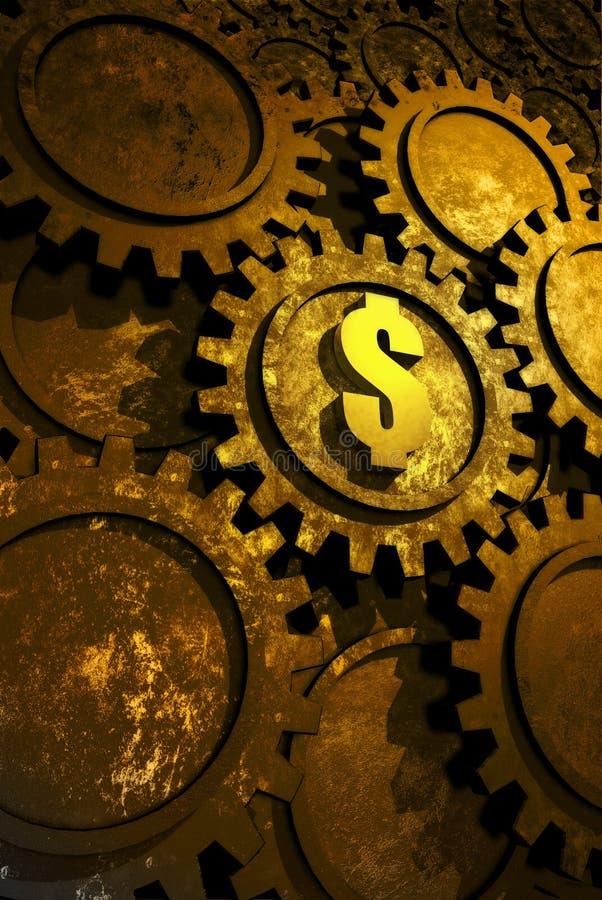 Geldfabrik vektor abbildung