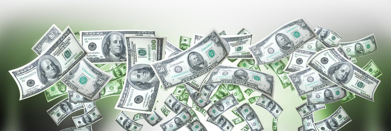 Geldfahne stockfotos