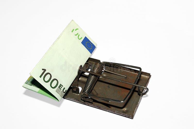 Geldfalle stockbild