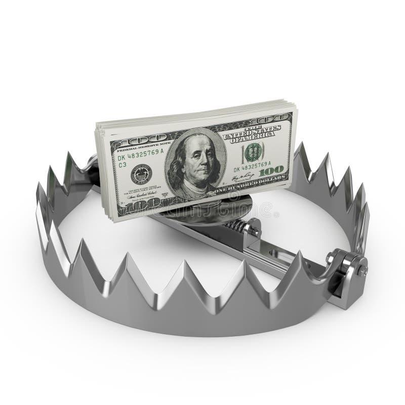 Geldfalle vektor abbildung