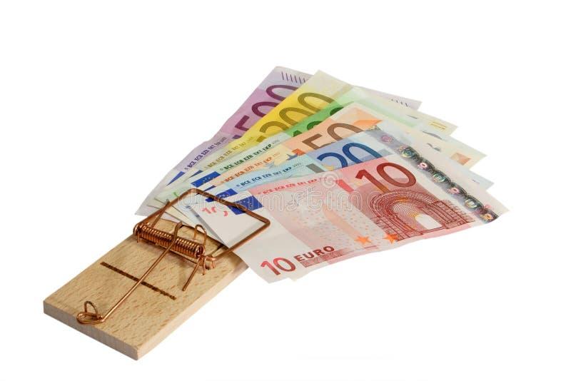 Geldfalle lizenzfreie stockbilder