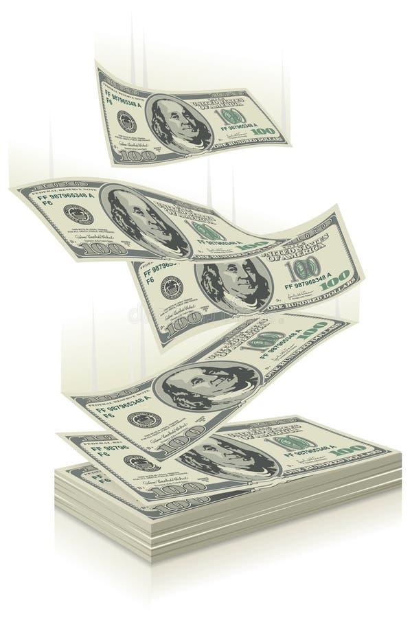 Geldfallen stock abbildung