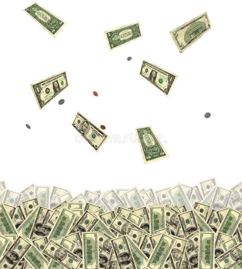 Geldfallen lizenzfreies stockbild