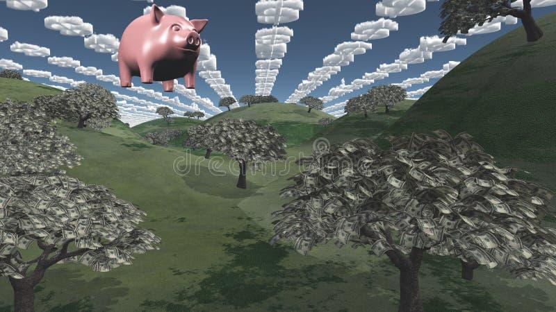 Geldfelder lizenzfreie abbildung