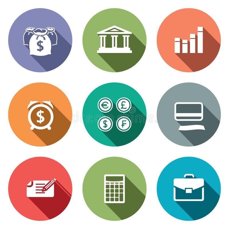 Geldfinanzikonen eingestellt vektor abbildung