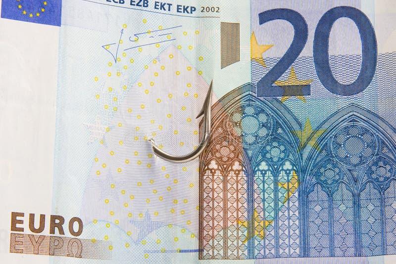 Geldfinanzquerneigungeuro lizenzfreies stockbild