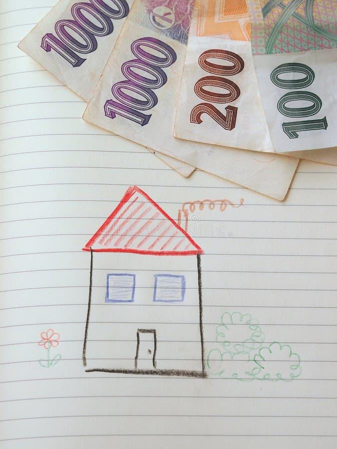 Geldgespräche lizenzfreie stockbilder