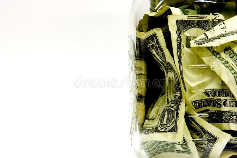 Geldglas Stockbild