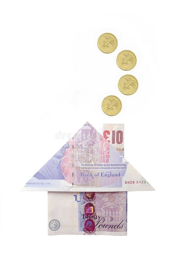 Geldhaus lizenzfreies stockbild