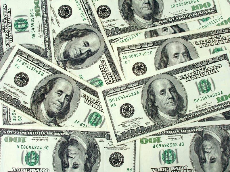 Geldhintergrund - Dollar stockfoto