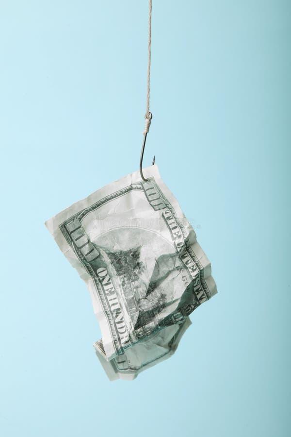 Geldköder schloss ein Geschäftserfolg- und -gefahr Schuldabhängigkeit lizenzfreies stockbild