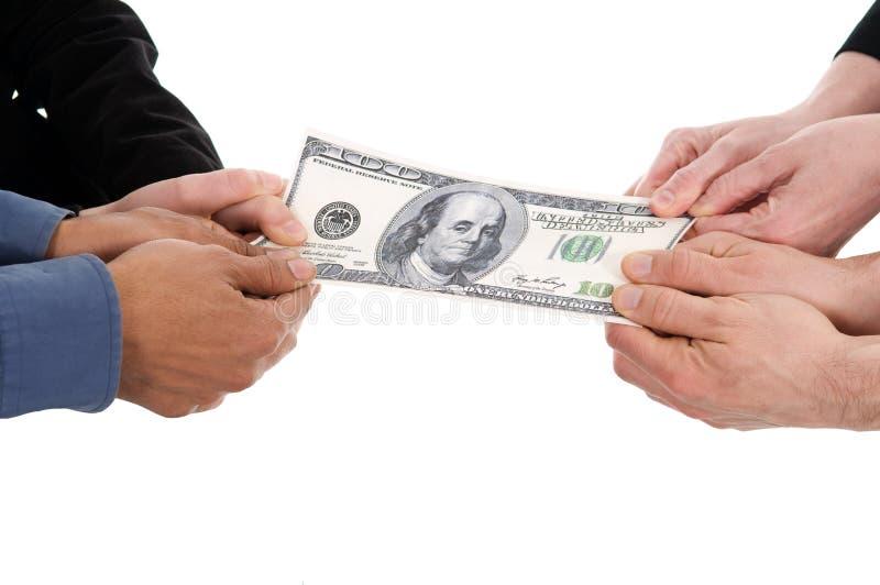 Geldkampf stockfotos