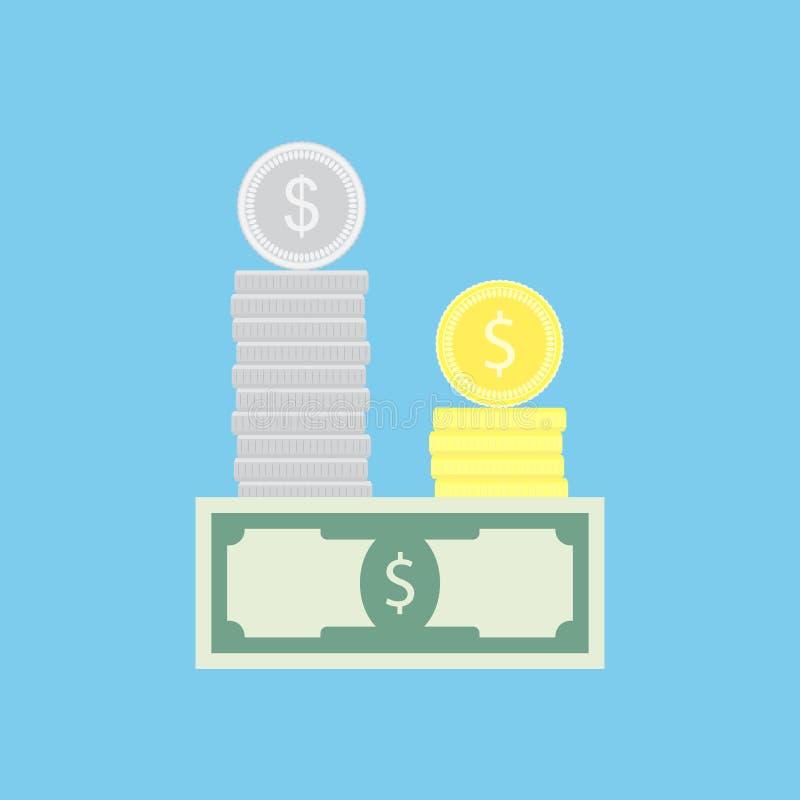 Geldkapitalkonzept stock abbildung