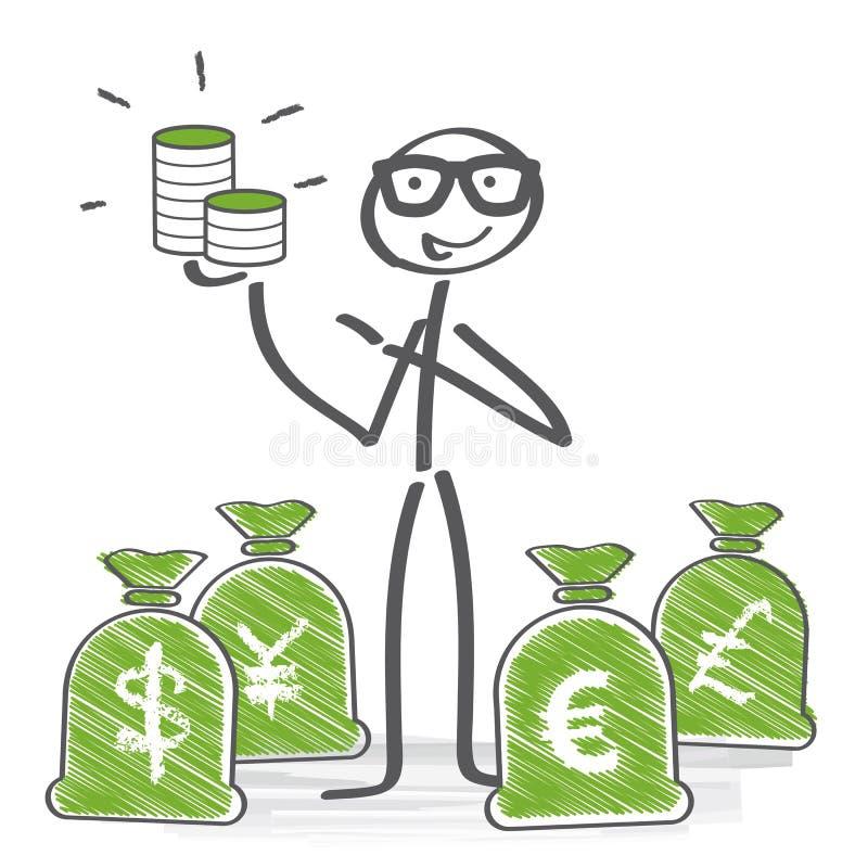 Geldkonzept stock abbildung