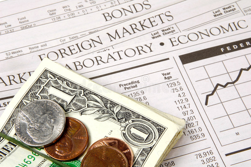 Geldmärkte Stockbild