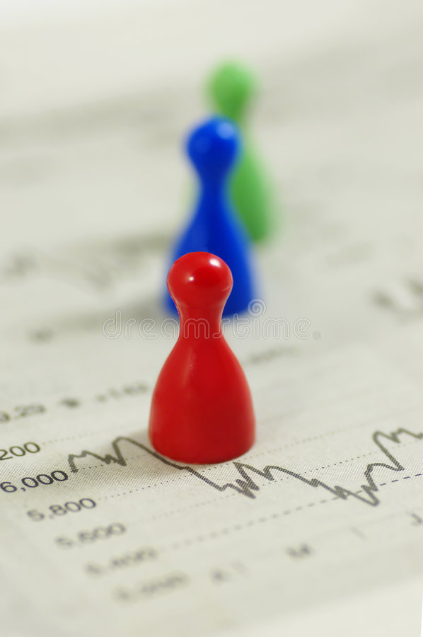 Geldmarkt stockfoto