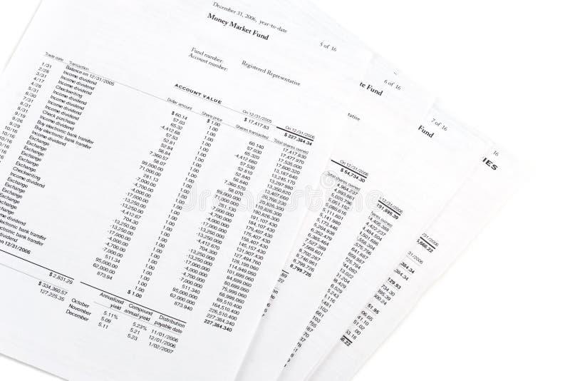 Geldmarktkontoanweisungen stockbilder