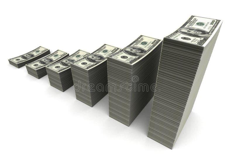 Geldmengenwachstum vektor abbildung