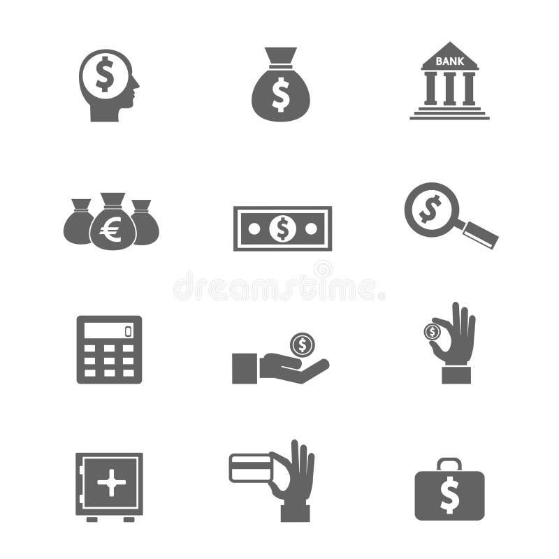 Geldpictogrammen royalty-vrije illustratie