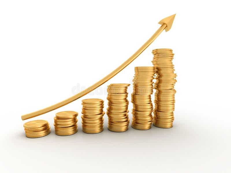 Geldprofit lizenzfreie abbildung