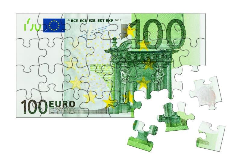 Geldpuzzlespiel stockbilder