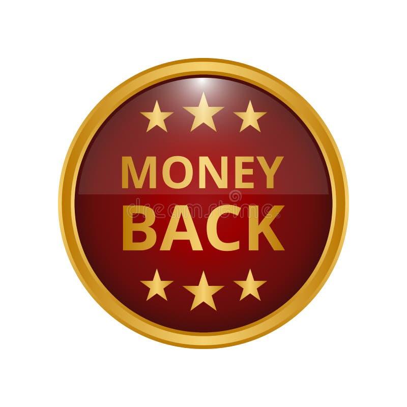 Geldrückseiten-Garantieaufkleber lizenzfreie abbildung