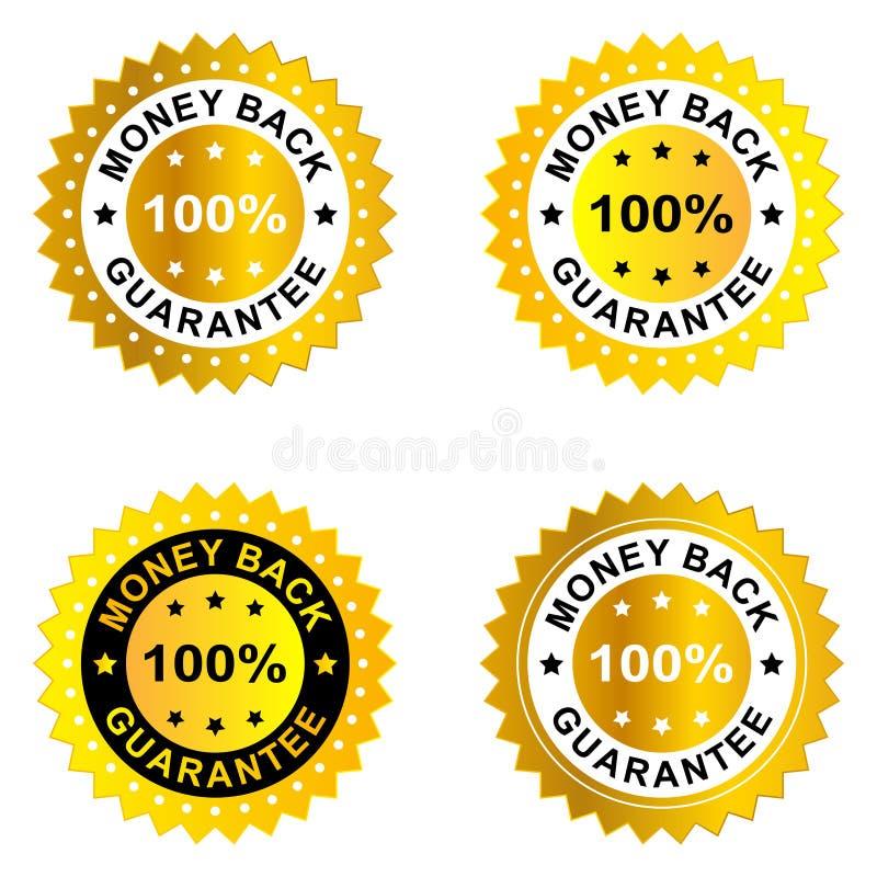 Geldrückseitengarantie lizenzfreie abbildung