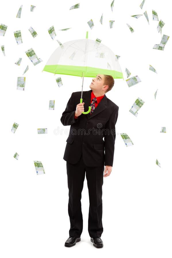 Geldregen lizenzfreie stockfotos