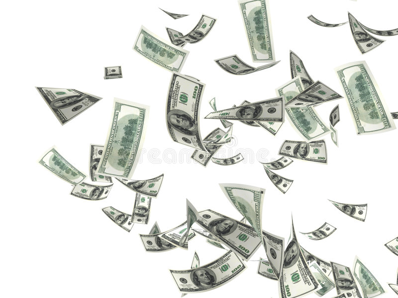 Geldregen stock abbildung
