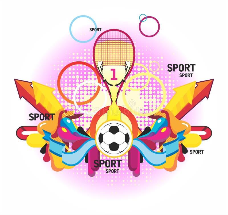 Geldstrafe sports symmetrischen Aufbau mit einem Cup und einem P vektor abbildung