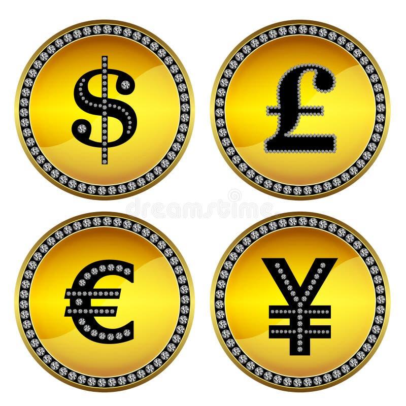 Geldtekens stock illustratie