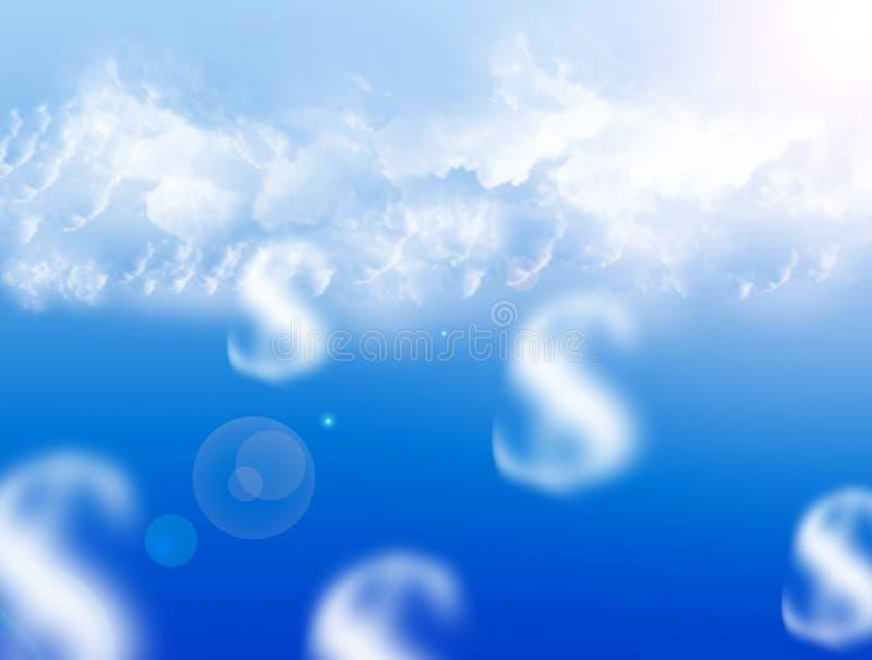 Geldträume lizenzfreie abbildung
