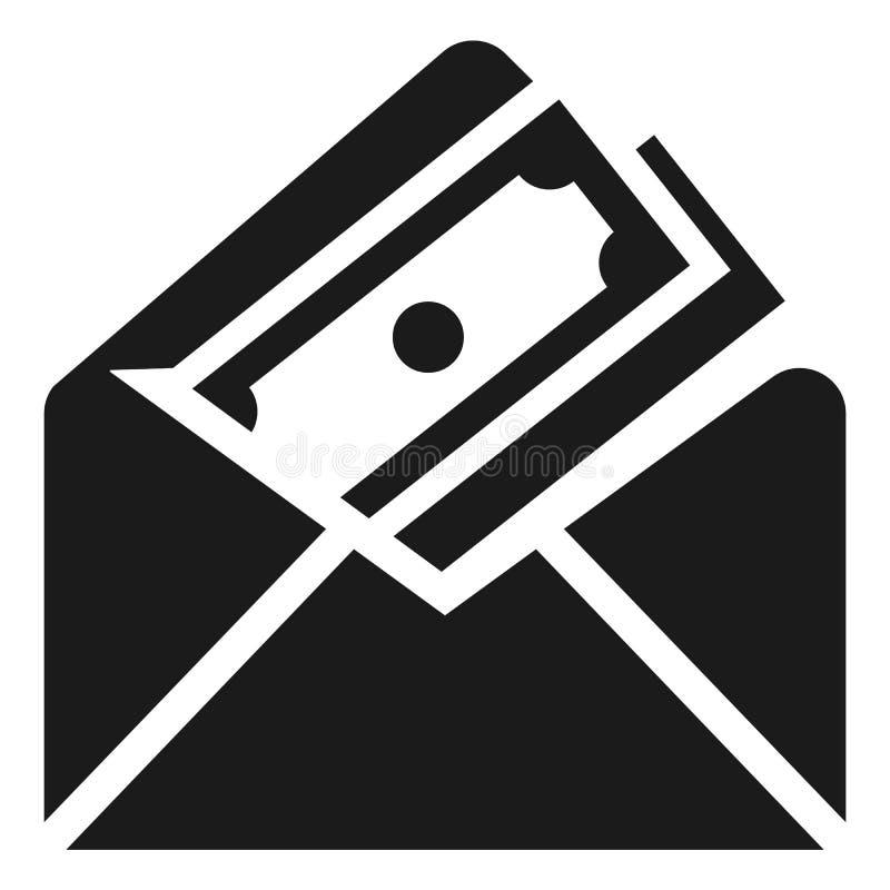 Geldumschlagikone, einfache Art lizenzfreie abbildung
