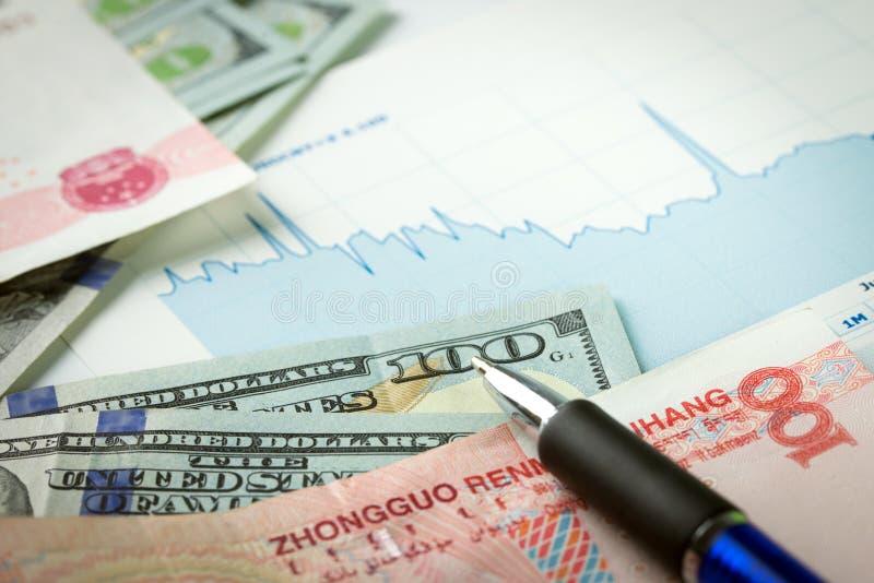Geldumtausch lizenzfreie stockbilder