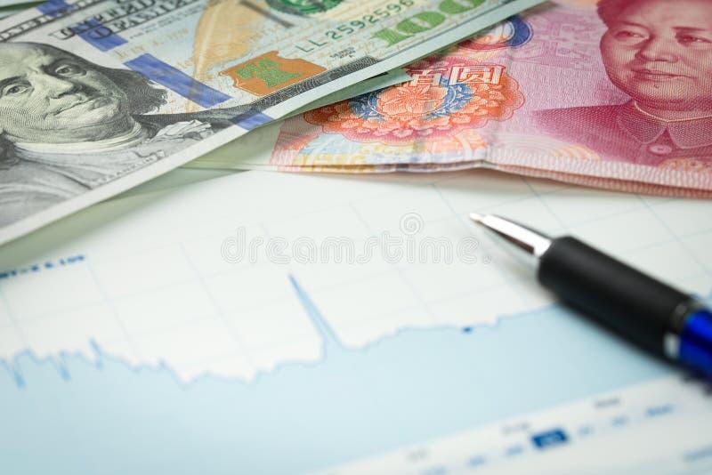 Geldumtausch stockfotografie