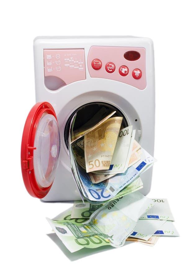 Geldwäsche stockfotografie
