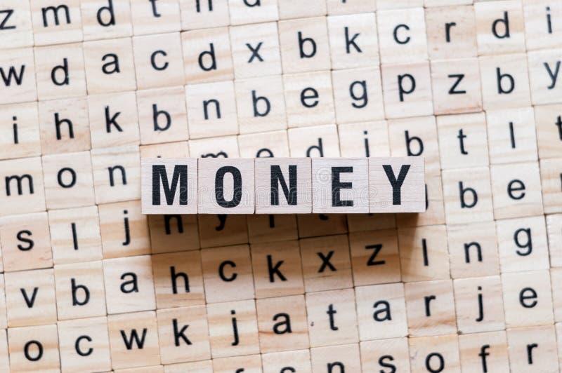 Geldwortkonzept stockbild
