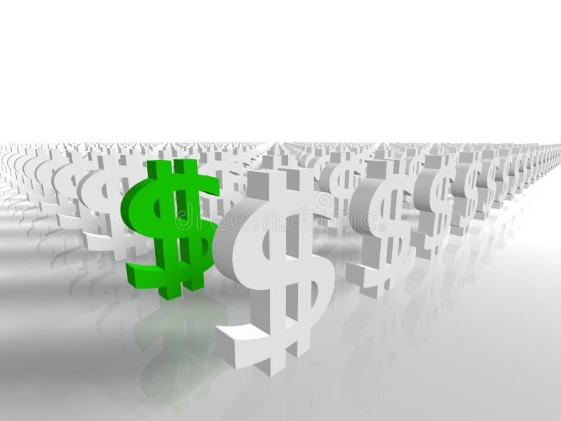 Geldzeichen stock abbildung