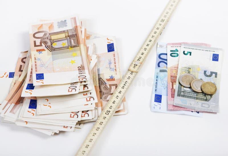Geldzollstock lizenzfreies stockfoto