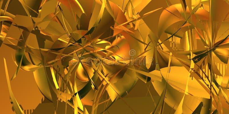 Gele abstracte achtergrond stock foto's