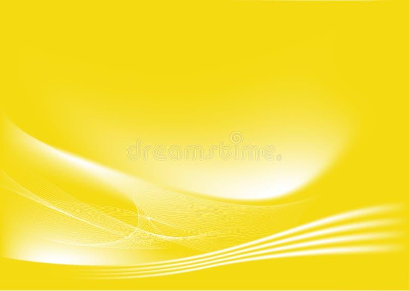 Gele abstracte achtergrond stock illustratie